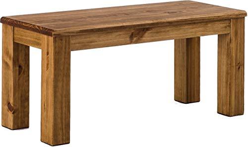 Brasilmöbel Bank 100 cm Rio Classico Brasil Pinie Massivholz Esszimmerbank Küchenbank Holzbank Echtholz Sitzbank Größe und Farbe wählbar