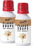 Got7 Nutrition Got7 Flavor Drops - Aromi senza calorie per cibi e bevande - Perfetti per dimagrire (Torrone alle noci, 2x 30ml) - 60 ml