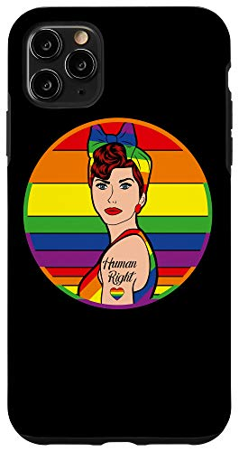 iPhone 11 Pro Max Lady Human Right Pride Rainbow LGBT Flag Gay Lesbian Love Case