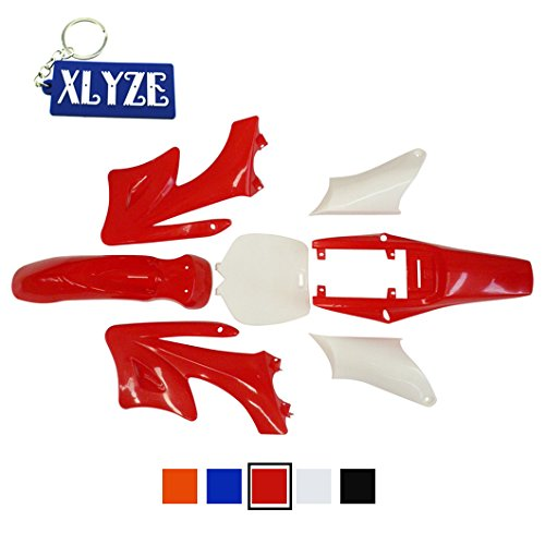 XLYZE Plastic Fender Kits Rojo para 2 tiempos Chino 47cc 49cc Apollo Orion Mini Pit Dirt Bikes