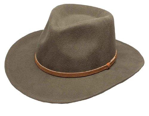 Broner Lite Felt Autumn Outback Hat, Taupe, Large