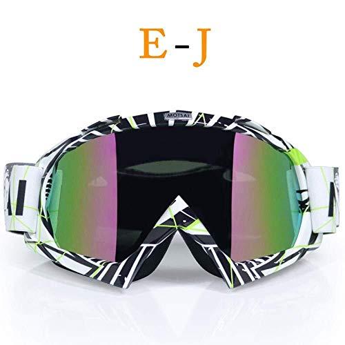 FANPING Marke Goggles Dirt Bike ATV Kreuz Reiten Ski Fox Motocross Brille Motor for Motorrad UV-Ski Snowboard-Goggles-Raum-Objektiv (Color : J1)