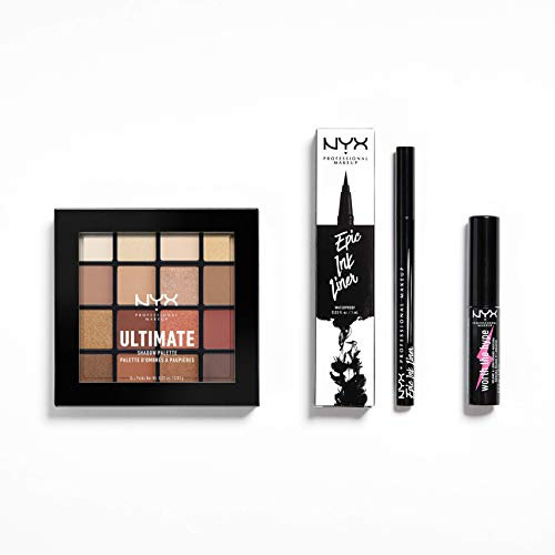 NYX Professional Makeup 3-teiliges Augen-Set, Epic Ink Liner, Mini Worth the Hype Mascara, Ultimate...