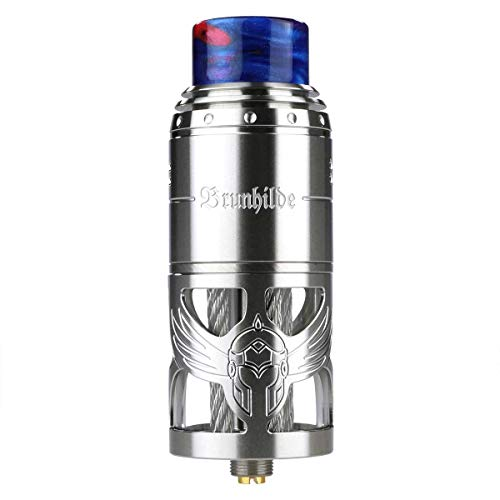 VapeFly Brunhilde RTA Clearomizer 8 ml, Durchmesser 25 mm, Verdampfer für e-Zigarette, silber