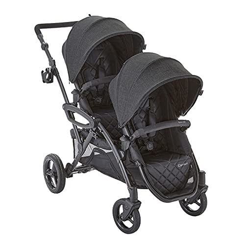 Contours OptionsElite V2 Double Stroller, Carbon Grey, 55x26x41.3 Inch (Pack of 1) (ZT025-CRB1)