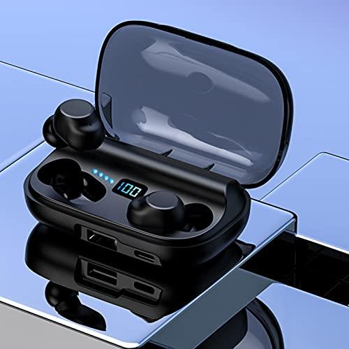 Vipxyc Auriculares Bluetooth, Hechos de Material ABS, HiFi impacta el Sonido Original, para un Efecto de Sonido impactante.(Black CV10)