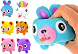 Squeeze Play and Sound Stress Ball Relievers Ball Tongue Out (6 Units) Ja-RU Screaming Talking Animal Toy for Kids & Toddlers. Cute Squeeze Stress Relief Soft Ball Decorations Plus Sticker 4342-6s