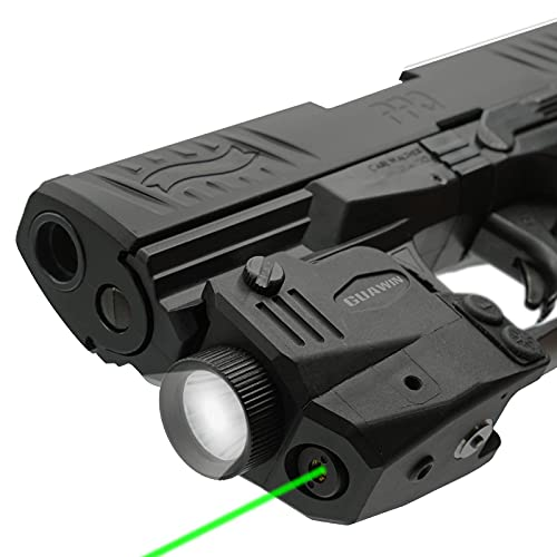 Pistol Light Laser Sight Gun Light 450 Lumens LED (Class IIIA <5mw) Tactical Flashlight with Strobe Magnetic Charging Quick Release Laser Light Combo for Picatinny Weaver Rail Handguns Pistol Rifle