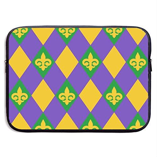 Mardi Gras 15 Zoll Laptop-Ärmeltasche Tragbare Reißverschluss-Laptop-Tasche Tablet-Tasche, wasserdicht