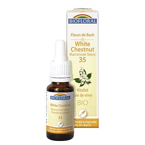Biofloral - Elixir floral du docteur bach n°35 marronnier blanc - compte goutte élixir floral 20 ml