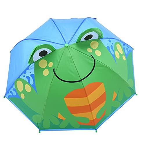 LYB Paraguas para Niños para Niñas Boys Baby Cover Parasol para Sun Rain Protection Rays Dibujos Animados Paraguas Outdoor School Cumpleaños Regalo (Color : F)