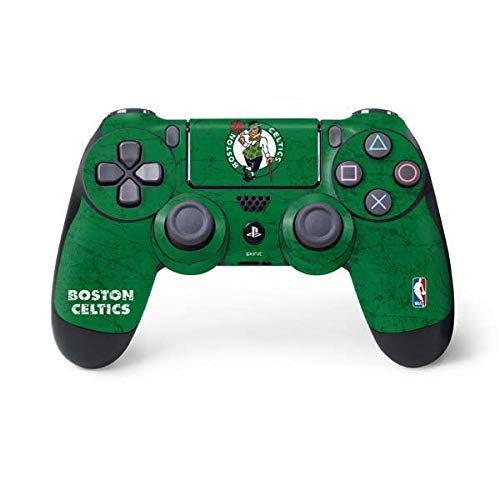 Skinit Decal Gaming Skin for PS4 Controller - Officially Licensed NBA Boston Celtics Green Primary Logo Design