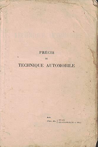Precis De Technique Automobile Par Chagette Jacques