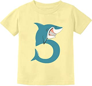 TeeStars - 5th Birthday Shark Party Gift for Five Year Old Toddler Kids T-Shirt