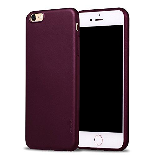 X-level iPhone 6s Hülle, [Guadian Serie] Soft Flex Silikon [Weinrot] Premium TPU Echtes Telefongefühl Handyhülle Schutzhülle für iPhone 6/6s 4.7 Zoll Case Cover