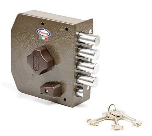 Potent 435/S Cerradura golpe y llave, cierre puerta izquierda