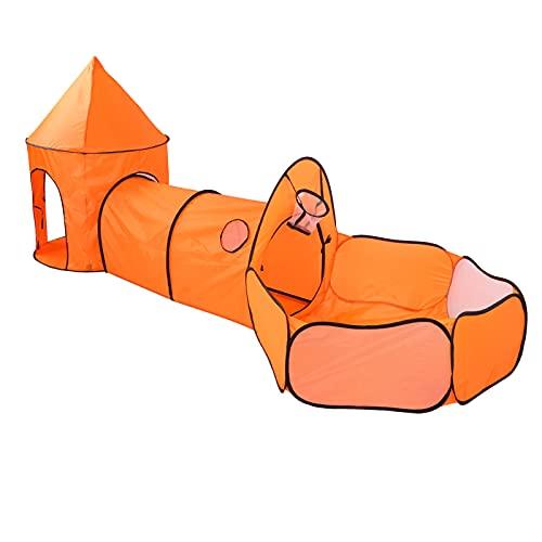 GOTOTOP Carpa emergente 3 en 1 y túnel de Juego para niños: Carpa de Juguete + túnel + Piscina de Bolas para niños y niñas con Canasta B (Pelotas no Incluidas)