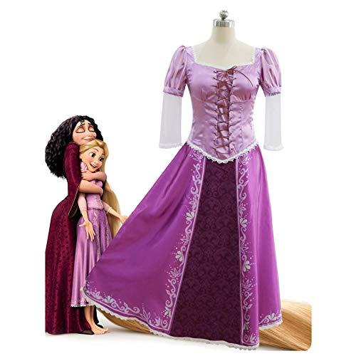 SHIXUE Disfraz Cosplay Rapunzel Anime De Halloween Adulto Disfraz De Halloween Cosplay Halloween Diseño De Almohadilla para El Pecho Más,L