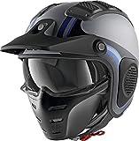 Shark X-DRAK HISTER MAT AKB, casco da moto, colore: antracite/blu, M