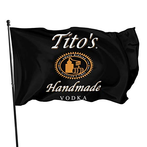 SHISHANGNX Tito's Handgefertigte Vodka-Flagge 3x5 Bierbanner Fahne Outdoorflagge Gartenflagge Amerikanische Flagge Dekorative Flagge