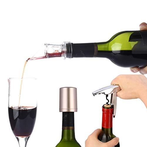 Family Needs 3 in 1 Portable Essentiele fles rode wijn Opener + 2G Rode Wijn Schenktuit beluchter Decanter + Wine Longevity Tool Oxygen pompinrichting Vacuum stop sluiten Tool