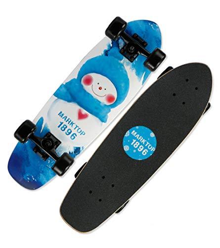 Skateboarding, Skate Callejero, Patinaje de pez Grande, patineta de Cuatro Ruedas, patineta para Principiantes - muñeco de Nieve