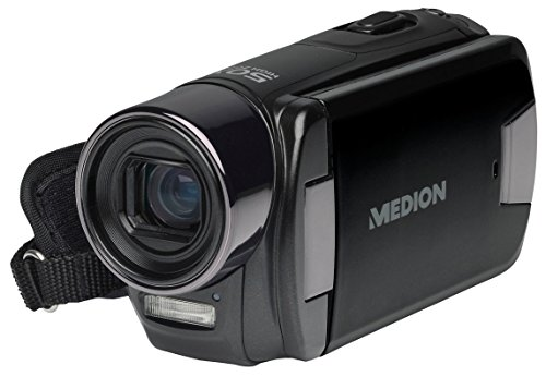 MEDION MD 86641 X47030 Full HD Camcorder, 5-fach optischer Zoom, Full HD Videoauflösung 1080p, schwenkbares 7,62 cm / 3.0