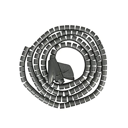 YOBAIH Organizador Cables Organizador 5 Metros PE Tubo Espiral Ocultar Alambre Organizador...