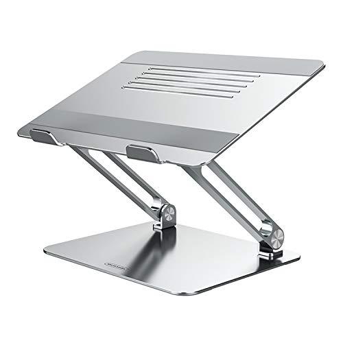 NILLKIN Soporte para portátil, Soporte de Silicona para computadora portátil Soporte de Escritorio de Aluminio Ajustable para MacBook, Surface y Otras computadoras portátiles de 11-17 Pulgadas