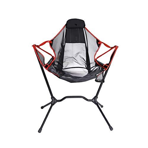 ZHUANQIAN Sillas plegables para acampar, columpio, silla plegable mecedora reclinable para acampar y pescar al aire libre (color : silla mecedora roja)