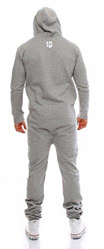 Gennadi Hoppe Herren Jumpsuit Onesie Jogger Einteiler Overall Jogging Anzug Trainingsanzug Slim Fit,hell grau - 3