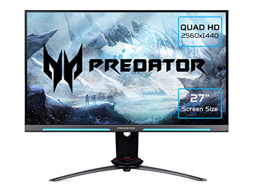 Acer Predator XB273UGSbmiiprzx 27 inch WQHD Gaming Monitor (IPS Panel, G-SYNC Compatible, 165Hz, 1ms, HDR 400, Height Adjustable Stand, DP, HDMI, USB Hub, Black)