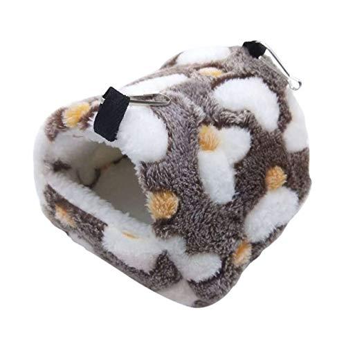 CBVG Winter Warmes kleines Haustier Meerschweinchen Hamster Bett Haus Vlies Nest Eichhörnchen Ratte Igel Kaninchen Chinchilla Bett Haus Nest, C.