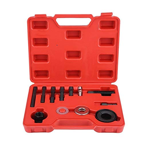 QWSX Toolkit 13pcs Auto Pulley Puller Remover Installer Servopumpe Remover Alternator Pulley AC Installation Handwerkzeuge Metall Material