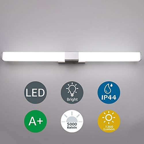 Klighten Spiegelleuchte,16W Bad Spiegellampe LED Wandleuchte, 80cm Badezimmer Badlampe für Spiegel Tageslichtweiß Badspiegel Lampe,5000K-5500K