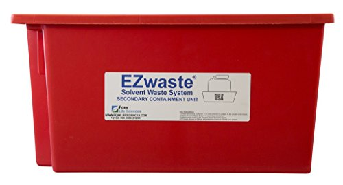 Foxx Life Sciences EZwaste Secondary Container Spill Basin, Safety Tray for 10L-20L (2.5 to 5 Gallon) Carboys, Bottles, and DOT Waste Containers