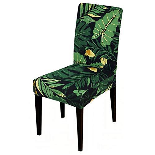 Tayinio stoelovertrek, bloemenmotief, stretch, voor stoel, elastisch, slipcover, bank, deken, kantoor, stoel, voor thuis, feest, eetkamer