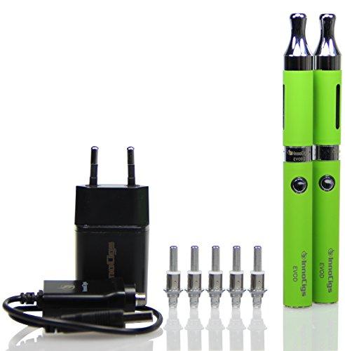 EVOD 2 BDCC Kanger doppel Starterset KangerTech Dual Coil 1,5 Ohm, e-Zigarette (grün)