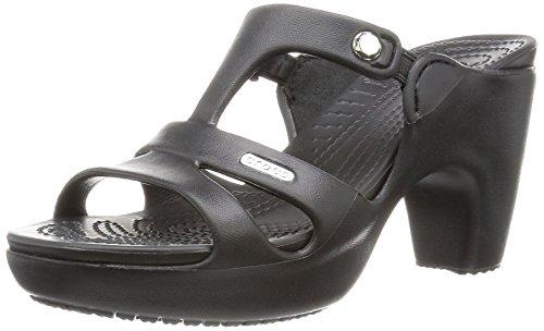 Crocs Cyprus V Heel Women, Damen Pumps, Schwarz (Black/Black), 34/35 EU