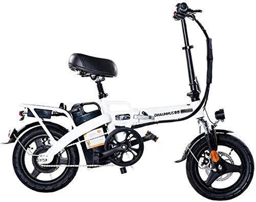 Bicicleta eléctrica de nieve, Adulto bicicleta eléctrica, plegable bicicleta con motor 350WAhBrushless, 36VThe más alto 28 Ah de litio de la batería, de 14 pulgadas de ruedas Velocidad máxima 25 km /