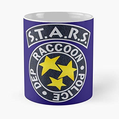 Resident Evil Stars Team T - Taza de café de cerámica blanca de 11 oz para hombres, mujeres, niños y niñas.