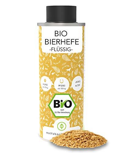 Bio Bierhefe für Hunde - 1 Liter flüssige Bierhefe mit Vitamin B - Natürliche Haut- und Fellpflege aus kontrolliert biologischem Anbau, DE-ÖKO-060