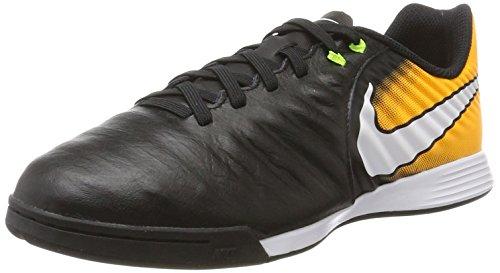 Nike Unisex-Kinder Fußballschuhe Fußballschuhe Jr. TiempoX Ligera IV IC, Schwarz (Black/white/laser Orange/volt), 36.5 EU