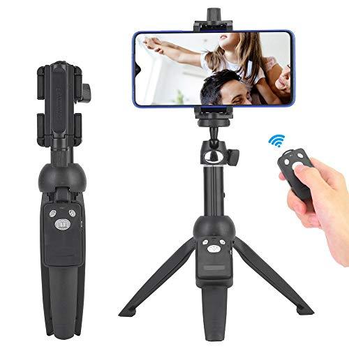 Bluetooth selfiestick mobiel statief, licht reisstatief 23-100 cm in hoogte verstelbaar 3 in 1 statief statief draagbare monopod met gsm-houder, Bluetooth-afstandsbediening