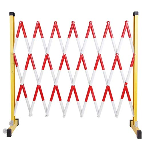 8.2-Foot Expandable Mobile Safety Sign Barricade Fence System - Safety Barricade, Mobile Safety Barrier, Work Safety Gate Folding Barricade