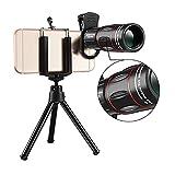Gwendolyn Visores de Caza 18 Veces Lente de telescopio de teléfono móvil, Telescopio de cámara HD de Alta ampliación, Teléfono móvil Lente de teleobjetivo Externo Zoom para moviles