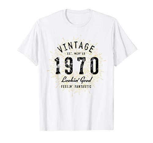 Vintage 51 Cumpleaños Nacido en 1970 Camiseta