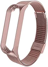 OUYAWEI Mi Band 3 Wrist Strap Metal Screwless Stainless Steel for Xiaomi Mi Band 3 Strap Bracelet Miband 3 Wristbands Pulseira Miband3 Rose Pink