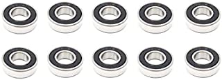 10x 6210 2RS Rubber Sealed Deep Groove Ball Bearings - 50x90x20 mm