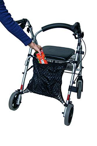 Rollstuhlnetz Einkaufsnetz mit Innenfutter, Farbe: Schwarz